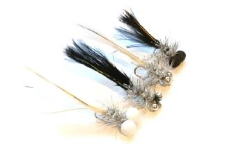 """3 Rutland 2/"""" BLACK WCC SNOOBYS SNAKE Trout Flies by Iain Barr WCC Fly Fishing"""